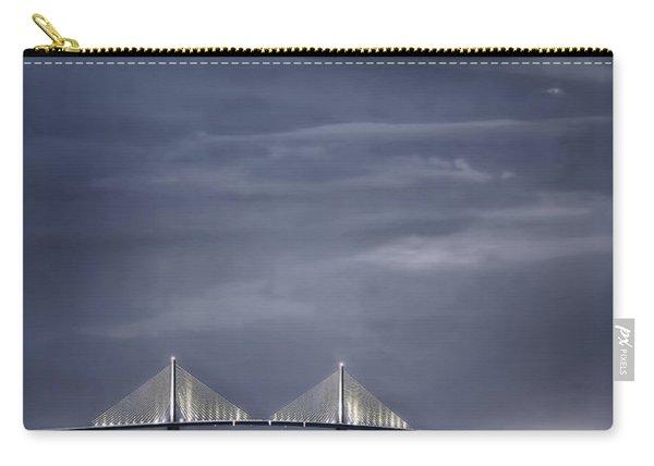Moonrise Over Sunshine Skyway Bridge Carry-all Pouch