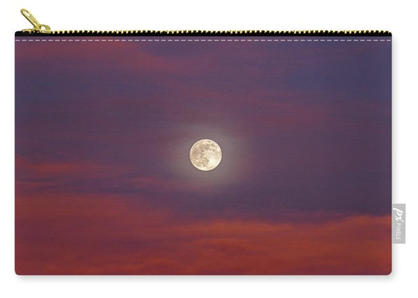 Carry-all Pouch featuring the photograph Moonrise, Sunset by Jason Coward