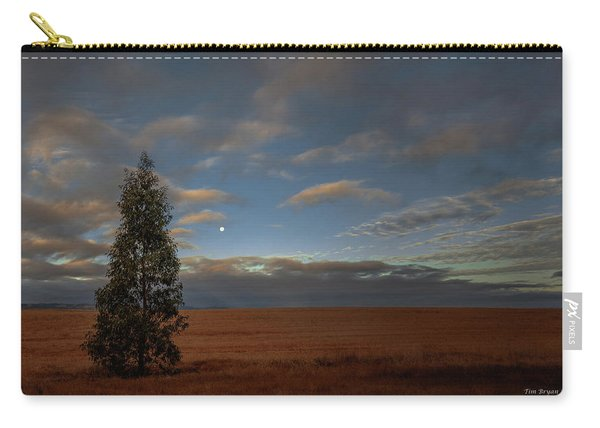 Moonset  In A Large Morning Sky Carry-all Pouch