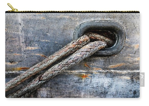Mooring Lines In Blue Carry-all Pouch