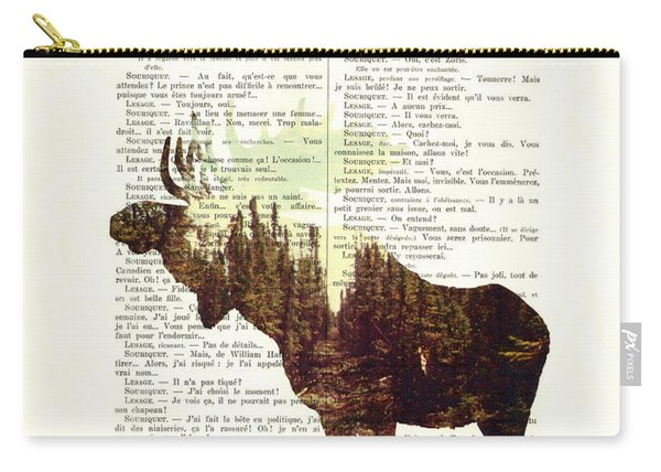 Moose - Explore Dream Discover - Inspiration Carry-all Pouch