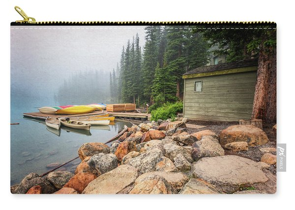 Moraine Lake And Boathouse Carry-all Pouch