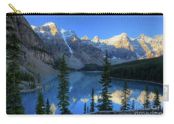 Moraine Lake Sunrise Blue Skies Carry-all Pouch