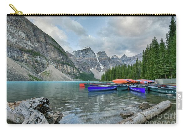 Moraine Logs And Canoes Carry-all Pouch