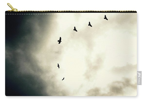 Big Sky Crows Carry-all Pouch