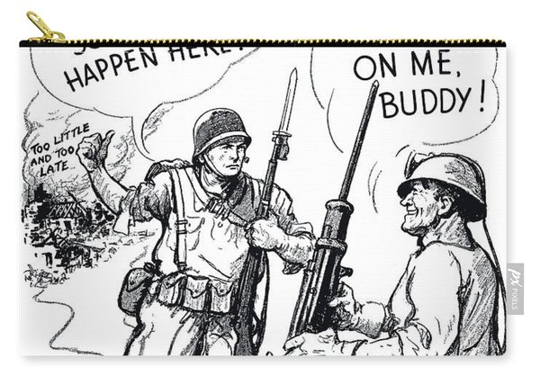More Metal Ww2 Cartoon Carry-all Pouch