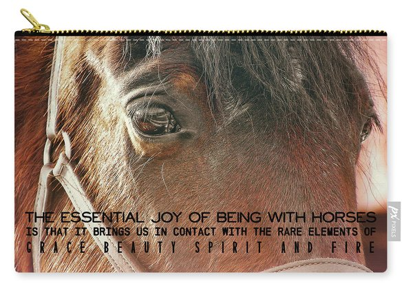 Morgan Horse Quote Carry-all Pouch