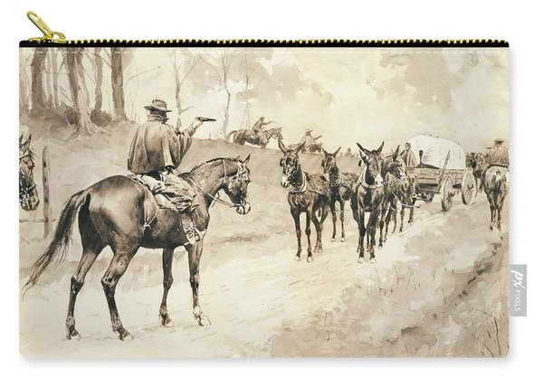 Morgan's Raiders Capturing A Train Carry-all Pouch
