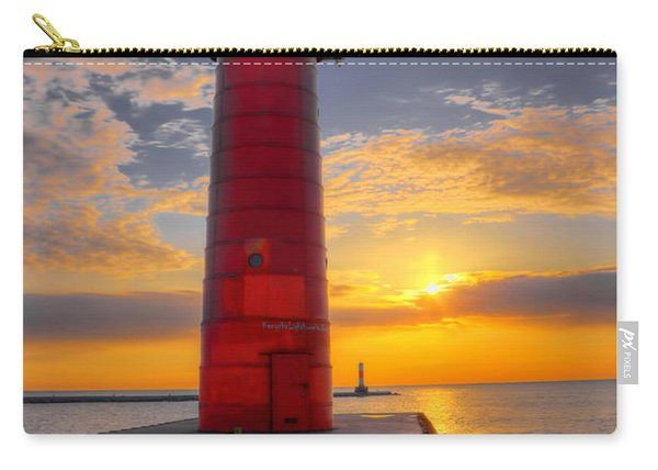 Morning At The Kenosha Lighthouse Carry-all Pouch