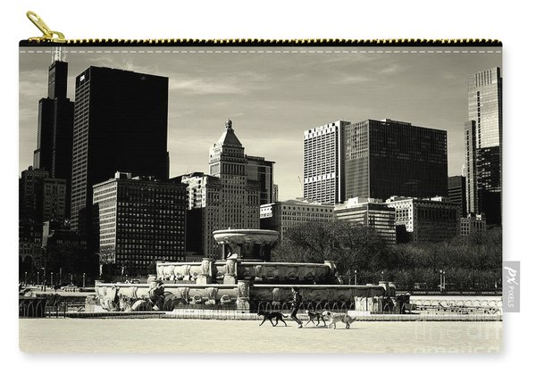 Morning Dog Walk - City Of Chicago Carry-all Pouch