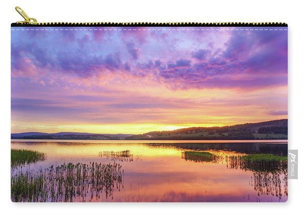 Carry-all Pouch featuring the photograph Morning Fire by Dmytro Korol