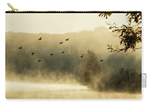 Morning Fog On Haley Pond In Rangeley Maine Carry-all Pouch