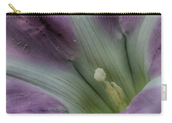 Carry-all Pouch featuring the photograph Morning Glory Center by William Selander