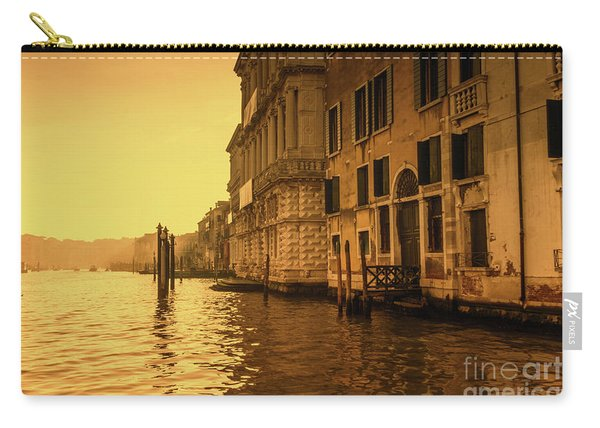 Morning In Venice Sepia Carry-all Pouch