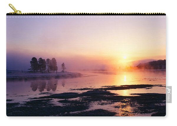 Morning Mist At Yellowstone National Carry-all Pouch