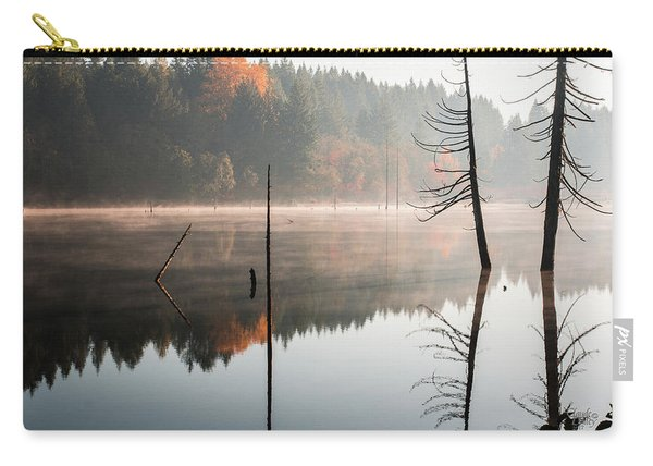 Morning Mist On A Quiet Lake Carry-all Pouch