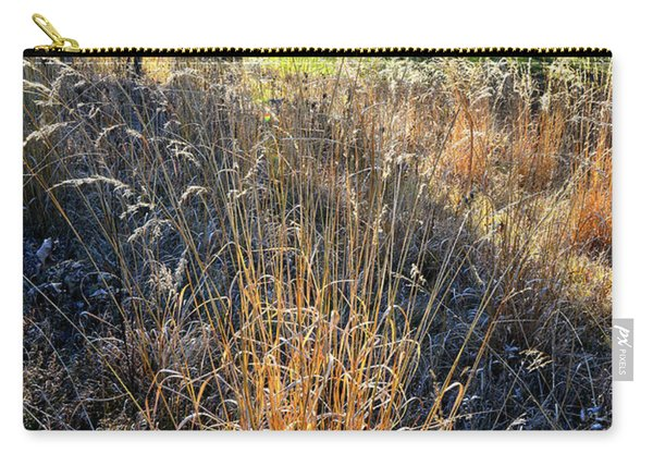 Morning Sun Backlights Fall Grasses In Glacial Park Carry-all Pouch
