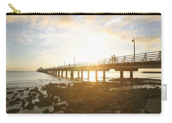 Morning Sunshine At The Pier  Carry-all Pouch