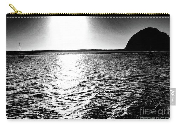 Morro Rock, Black And White Carry-all Pouch
