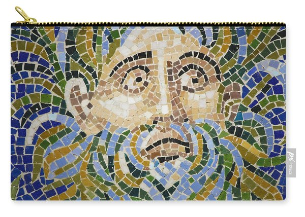 Mosaic Face Fountain Detail Carry-all Pouch