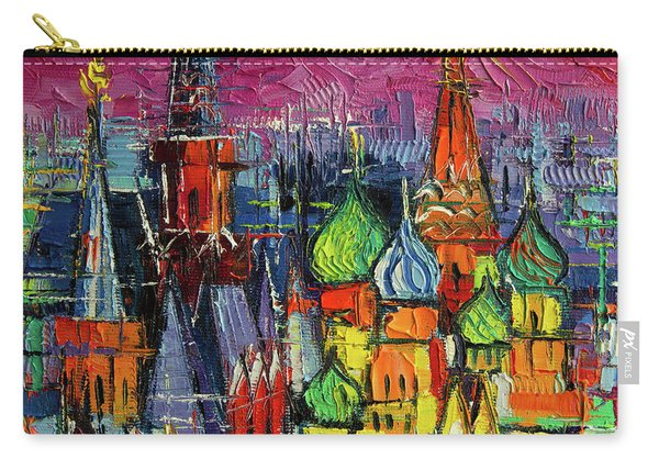 Moscow Red Square View Textural Impressionist Stylized Cityscape Carry-all Pouch