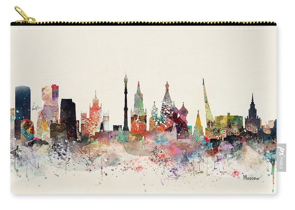 Moscow Russia Skyline Carry-all Pouch