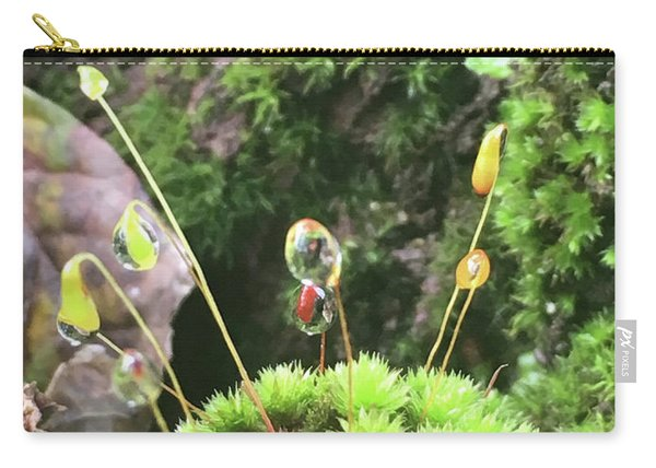 Moss And Dewdrops Carry-all Pouch