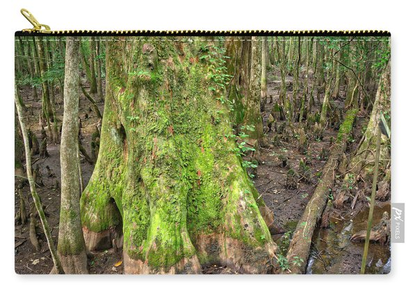 Carry-all Pouch featuring the photograph Mossy Cypress by Michael Colgate