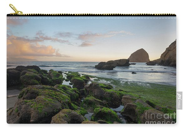 Mossy Rocks At The Beach Carry-all Pouch
