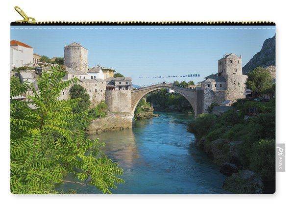 Mostar, Bosnia Herzegovina  The Single Arch Stari Most Or Old Bridge. Carry-all Pouch