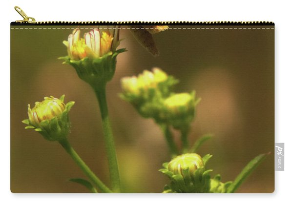 Moth Sitting On Yellow Flower Carry-all Pouch