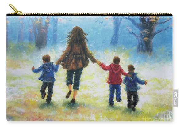 Mother And Three Sons  Carry-all Pouch