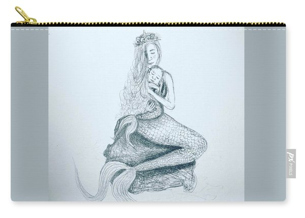 Motherhood Mermaid Carry-all Pouch