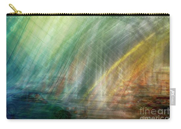 Carry-all Pouch featuring the photograph motion in Dublin street by Ariadna De Raadt