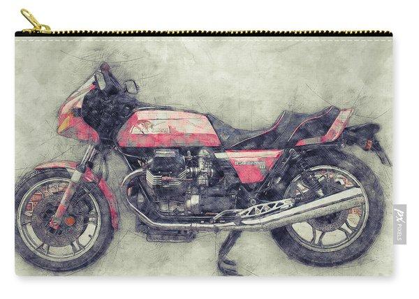 Moto Guzzi Le Mans 1 - Sports Bike - 1976 - Motorcycle Poster - Automotive Art Carry-all Pouch