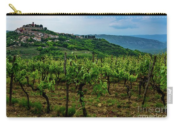 Motovun And Vineyards - Istrian Hill Town, Croatia Carry-all Pouch