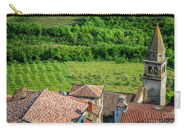 Motovun Istrian Hill Town - A View From The Ramparts, Istria, Croatia Carry-all Pouch