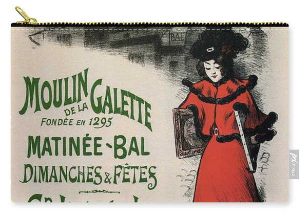Moulin De La Galette - Windmill And Associated Business - Vintage Advertising Poster Carry-all Pouch