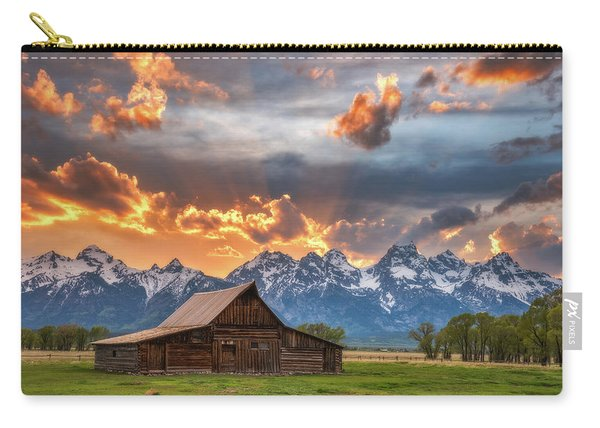 Moulton Barn Sunset Fire Carry-all Pouch