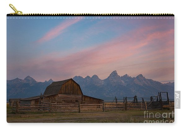 Moulton Ranch Sunrise At Mormon Row  Carry-all Pouch