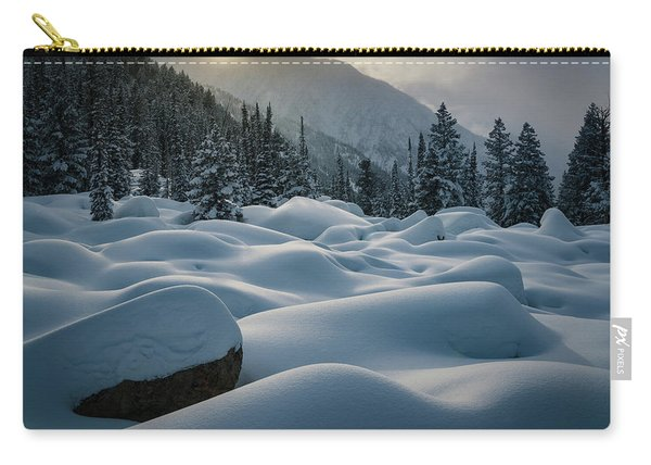Mounds Of Snow In Little Cottonwood Canyon Carry-all Pouch
