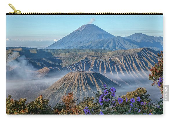 Mount Bromo In Clouds - Java Carry-all Pouch