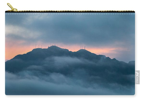 Mount Franklin Stormy Winter Sunset Pano Carry-all Pouch