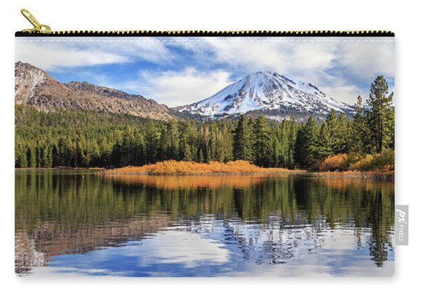 Mount Lassen Reflections Panorama Carry-all Pouch
