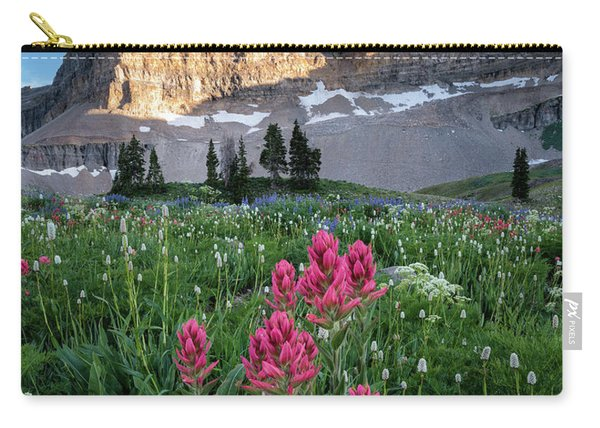Mount Timpanogos Wildflowers Carry-all Pouch