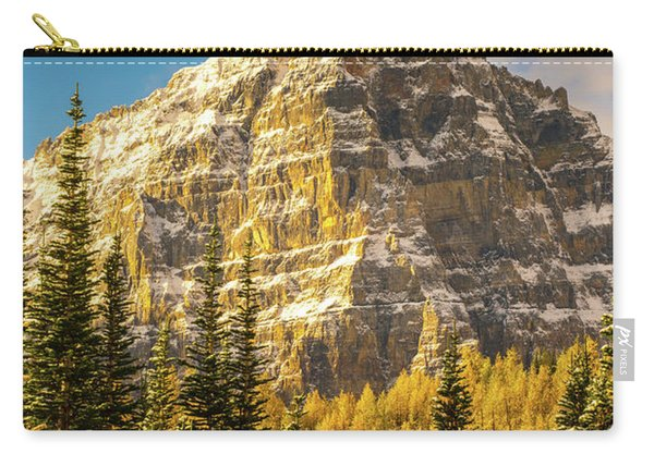 Mount Tuzo Ten Peaks Golden Fall Colors Carry-all Pouch