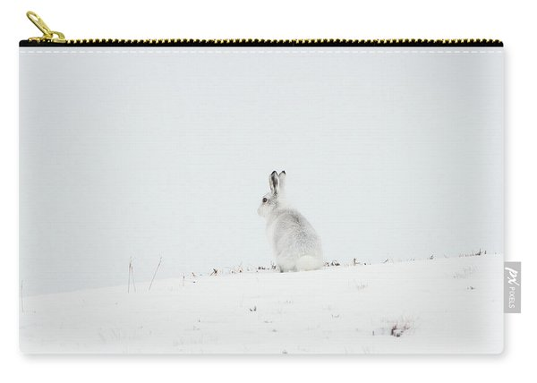 Mountain Hare Sat In Snow Carry-all Pouch