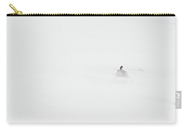 Mountain Hare Small In Frame Right Carry-all Pouch