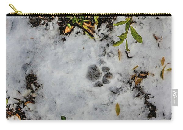 Mountain Lion Tracks In Snow Carry-all Pouch