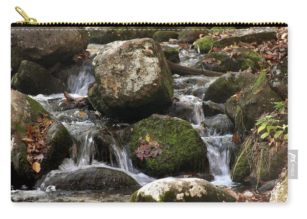 Mountain Stream Through Rocks Carry-all Pouch